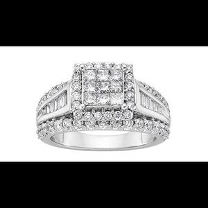 Jewelry - 2 cttw diamond Engagement ring 10k white gold ss 7